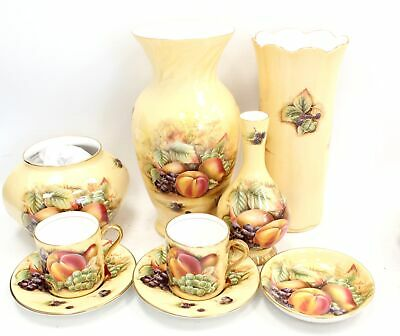 £62.40 • Buy 12 Piece AYNSLEY ORCHARD GOLD Bone China Pieces Inc VASES, Tea Cups - S94