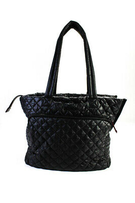 $74 • Buy MZ Wallace Dual Strap Quilted Large Tote Handbag Black