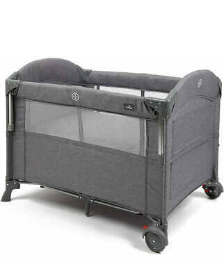 £66 • Buy Babylo Deluxe Drop Side Co-Sleeper Bedside Travel Cot, Grey Mélange New Other
