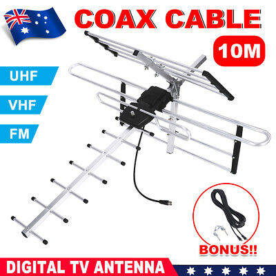 AU31.95 • Buy Outdoor Digital TV Antenna UHF VHF FM AUSTRALIAN Conditions For Country & Metro
