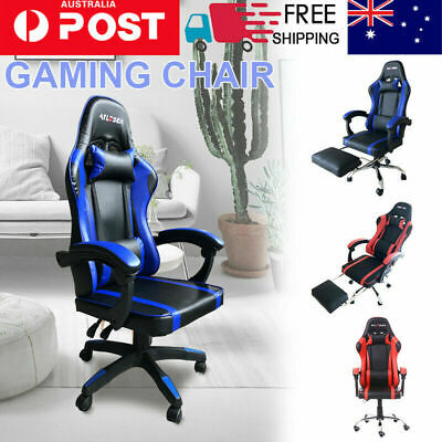 AU79.99 • Buy 2021 Gaming Chair Office Chair Computer Executive Chairs Seating Footrest Racer