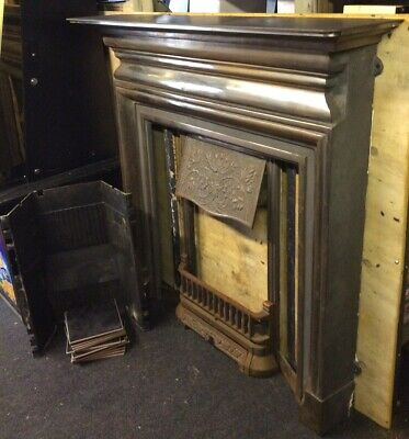 £450 • Buy GALLERY Edwardian Cast Iron Fireplace - Original Tiles Are Missing - Cash Only