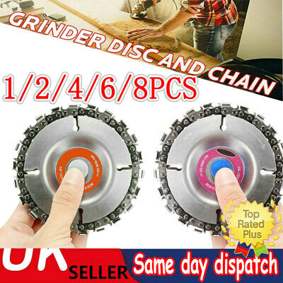 £4.89 • Buy ✔1~8PC Angle Grinder Disc 22 Tooth Saw Blade Chain Saw For Carving Wood Plastic✔