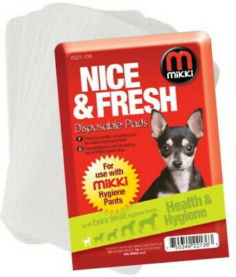 £4.99 • Buy Mikki Hygiene Pants Disposable Pad Replacements No Mess No Stress Dogs On Heat