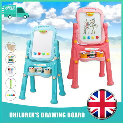 £20.99 • Buy Child Magnetic Drawing Board Easel Double Sided Folding Kids Doodle Sketchpad