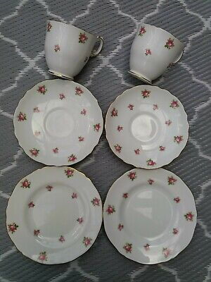 £6.99 • Buy Vintage Fine Bone China Staffordshire Tea Cup, Saucer And Plate Set (2 Of Each)