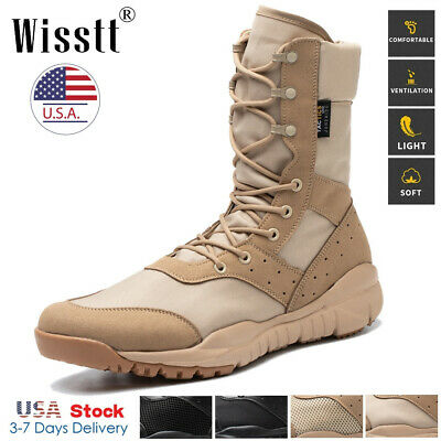 $38.97 • Buy Men's Army Military Combat Boots SWAT Hiking Security Hiking Tactical Work Shoes