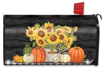 $16.99 • Buy Fall's Glory Floral Magnetic Mailbox Cover Autumn Sunflowers Standard