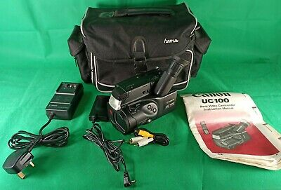 $ CDN154.69 • Buy Canon UC100E 8mm Video Camcorder + Bag + Wired Battery Pack + Charger Tested