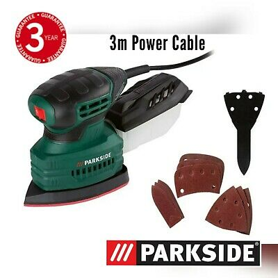 £16.97 • Buy Parkside 160W Detail Electric Sander + Sandpaper & Collection Box PMS 160 A1 NEW