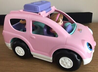 £4.99 • Buy Fisher Price Little People Pink Car With Sounds & 2 Figures EYFS Fab!