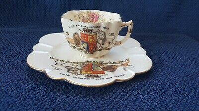 £4.99 • Buy Sixty Years Anniversary Reign Queen Victoria Cup And Plate