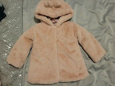 £4 • Buy Pink Girls Fur Coat From George 12-18 Months