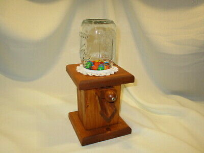 $39.99 • Buy Vintage Hand Made Wood Candy Dispenser Perfect For M&M's, Skittles Or Similar