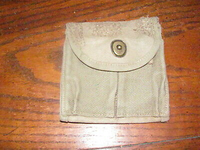 $13.99 • Buy US M1 Carbine Magazine Pouch Buttstock Usgi OD Faded Used Repaired
