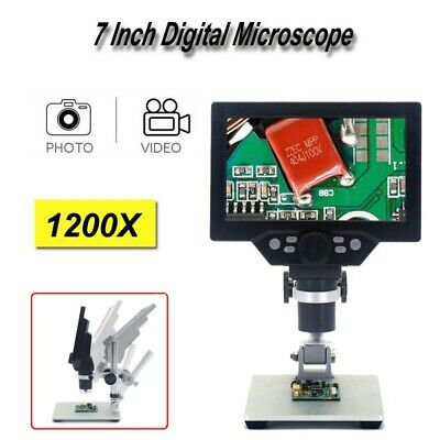 £55.16 • Buy Digital Microscope 1-1200X 1080P 7   LCD Video Amplification Magnifier Camera