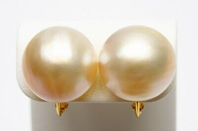 $240 • Buy Mabe Pearl Earrings 16mmUP Cream Color Silver