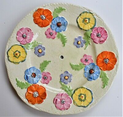 £39.50 • Buy Parrot And Company Coronet Ware Plate Flowers Hole In Centre 23cm Wide
