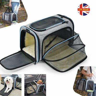 £33.29 • Buy OMORC Folding Fabric Soft Pet Crate Dog Cat Travel Carrier Cage Kennel House UK