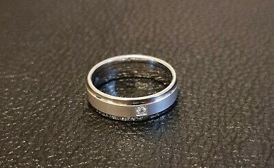 £2.20 • Buy German CEM 925 Sterling Silver  Friends  Ring With Diamond W/Si 0.03ct