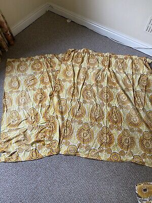 £15 • Buy Vintage 60s 70s Set Of Yellow Curtains X2