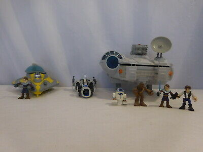 £27.22 • Buy Galactic Heroes Millennium Falcon Star Wars Space Ship + Starfighter + BARC Spee