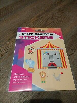 £3 • Buy LIGHT SWITCH STICKERS - Circus Kids Childrens Sticker Bedroom NEW -680