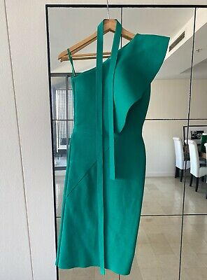 AU300 • Buy Scanlan And Theordore Green Crepe Knit Dress