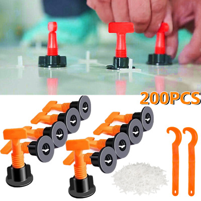 £22.35 • Buy 200pcs Floor Wall Tile Leveler Tools Reusable Tile Spacers Levelling System Cons