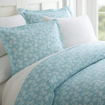 £33.05 • Buy Duvet Cover Set Queen Size Hypoallergenic Antimicrobial Zippered Closure 3-Piece