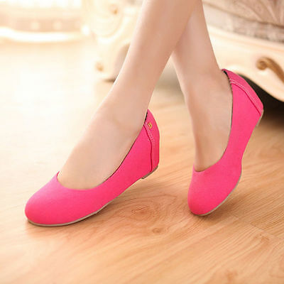 £22.99 • Buy Womens Pumps Suede Comfort Pointed Shoes Party Slingback Slip On Mid Wedge Heel