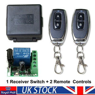 £10.99 • Buy 433 MHz Remote Control Transmitter Wireless 1CH Relay Receiver Switch Module 12V