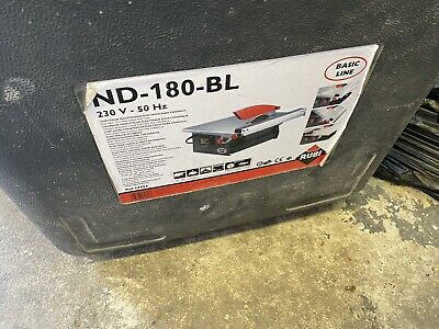 £40 • Buy Rubi ND-180-BL 240v Electric Tile Cutter Wet Saw With Blade + Case