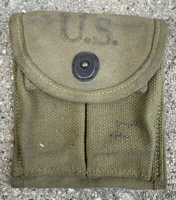 $39.99 • Buy Original WWII 1943 Dated US Military M1 Carbine Rifle Ammo Magazine Pouch