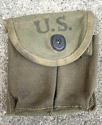 $34.99 • Buy Original WWII 1943 Dated US Military M1 Carbine Rifle Ammo Magazine Pouch