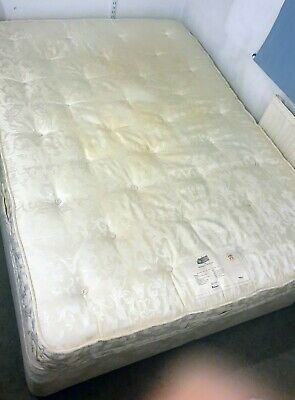 £1 • Buy Relyon Heritage Hanbury Supreme 1044 Springs Double Mattress And Bed Lambs Wool