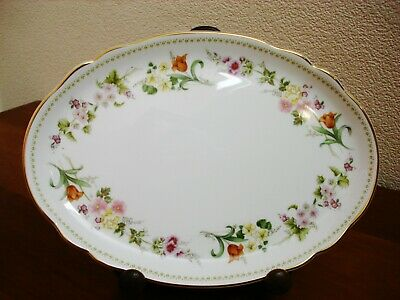 £11 • Buy Wedgwood Mirabelle Oval  9.5  Porcelain Vintage Dressing Table Tray - Vgc