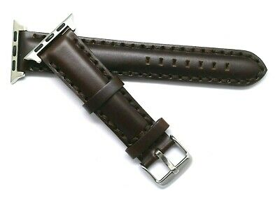 $ CDN18.61 • Buy Brown Leather Padded Watch Strap Fit Apple IWatch 38/40mm Series 6 5 4 3 2 1 SE