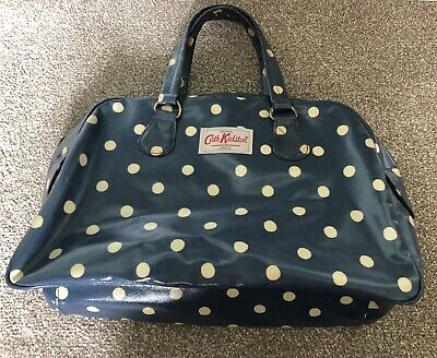 £5.99 • Buy CATH KIDSTON Oilcloth Bowling Bag. Blue With Polka Dots Spots. Grab Tote Shopper