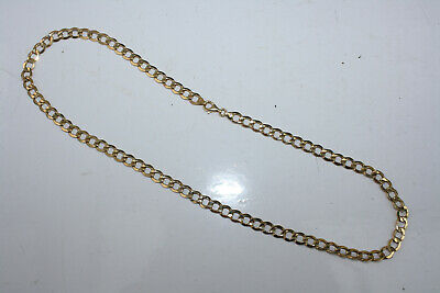 £160 • Buy Ladies/gents Hallmarked 9ct Yellow Gold Flat Curb Chain Necklace 20  10 Grams