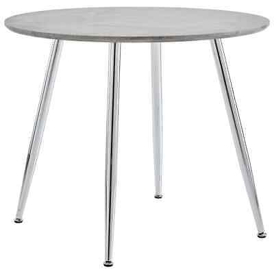 AU143.99 • Buy VidaXL Dining Table Concrete And Silver 90cm MDF Round Interior Kitchen Stand
