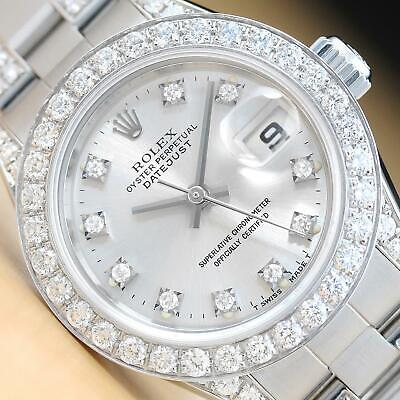$ CDN9140.93 • Buy Rolex Ladies Datejust Diamond Band + Factory Dial 18k White Gold Ss Watch