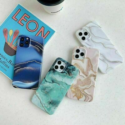 AU11.75 • Buy NEW Marble Protective Back Phone Case For IPhone 12 12Pro XR XsMax 8Plus Cover