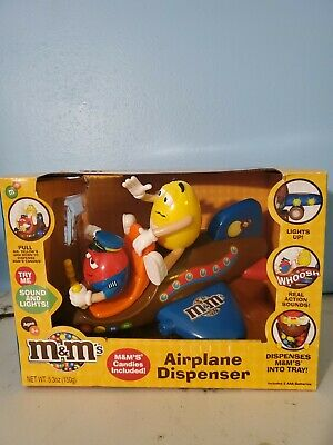 $41.99 • Buy M&Ms Airplane Candy Dispenser Yellow & Red M&Ms Brown Plane 2012