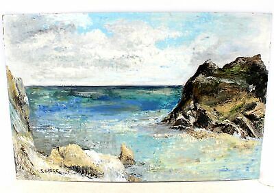 £10.23 • Buy S.GLYDE 'Mevagissy, Cornwall' ORIGINAL Oil On Canvas Painting - SIGNED - SA3