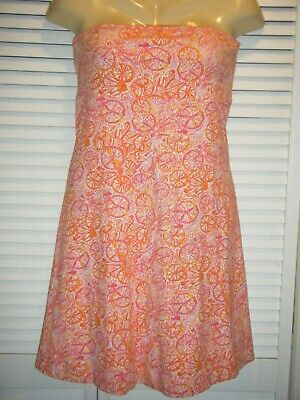 AU19.38 • Buy Lilly Pulitzer Dress Strapless Delphine Hotty Pink Ten Speed Bicycle Fruit LNRS