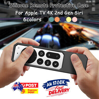 AU15.99 • Buy Silicone Remote Protective Case For Apple TV 4K 2nd Gen Siri 2021 Remote Cover