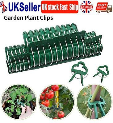 £2.99 • Buy 30/50 Garden Plant Clips Seedlings Plants Support Tools Small Large Grow 2 Sizes