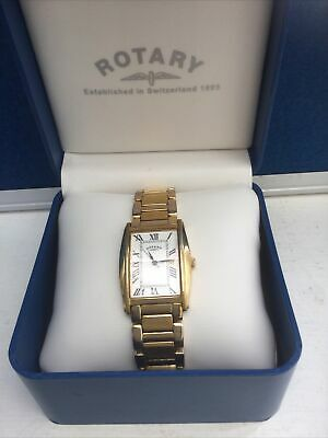 £45 • Buy ROTARY Tank Type  Stainless Steel Gold Plated. Mens Watch. Used.