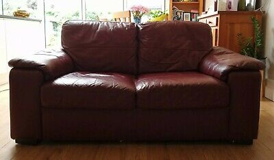£49.99 • Buy Red Leather 2 Seater Sofa & Armchair